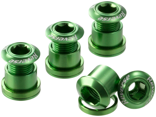 Reverse Chainring Bolts green